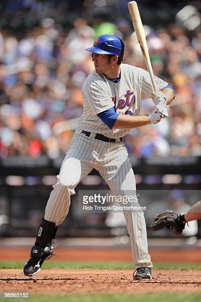 Ike Davis of the New York Mets bats against the Atlanta Braves on April 24 2010 at Citi Field in the Flushing neighborhood of the Queens borough of...