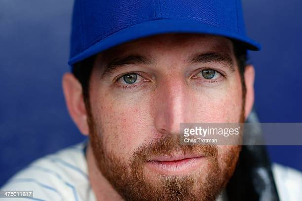 Ike Davis of the New York Mets poses for a portrait during Spring Training photo day at Tradition Field on February 26 2014 in Port St Lucie Florida