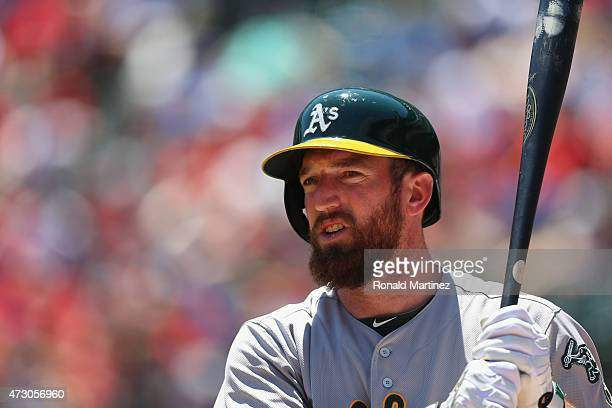 Ike Davis of the Oakland Athletics at Globe Life Park in Arlington on May 3 2015 in Arlington Texas