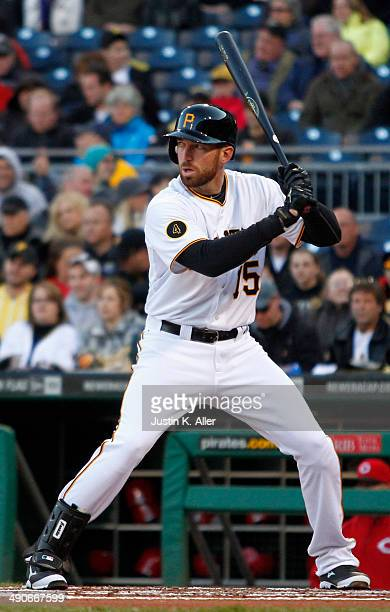 Ike Davis of the Pittsburgh Pirates bats against the Cincinnati Reds during the game at PNC Park April 23 2014 in Pittsburgh Pennsylvania