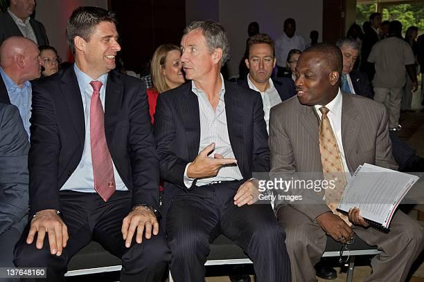 Ike Duker Executive Chairman Tullow Ghana Ltd and Group Advisor Africa Business Aidan Heavey Chief Executive Tullow Oil plc and Niall Quinn Director...