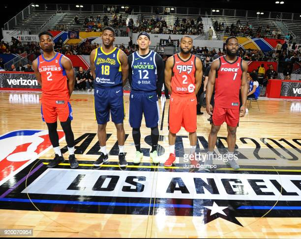 Ike Iroegbu of the Agua Caliente Clippers DeQuan Jones of the Fort Wayne Mad Ants Michael Bryson of the Iowa Wolves Aaron Best of the Raptors 905 and...