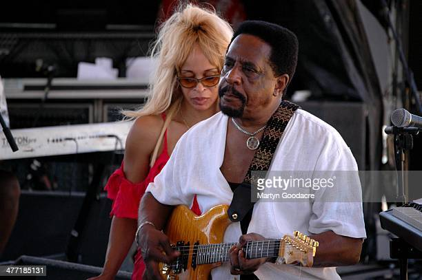Ike Turner and Audrey Madison perform on stage at Koh Samui Festival Thailand September 2005