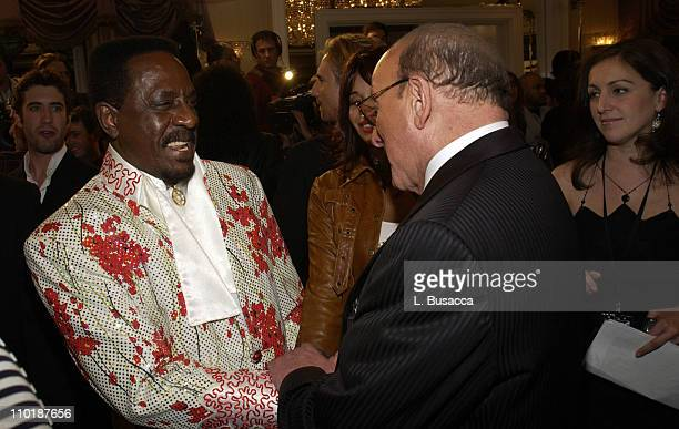 Ike Turner and Clive Davis during 2004 Clive Davis PreGrammy Party Inside Arrivals at Beverly Hills Hotel in Beverly Hills California United States