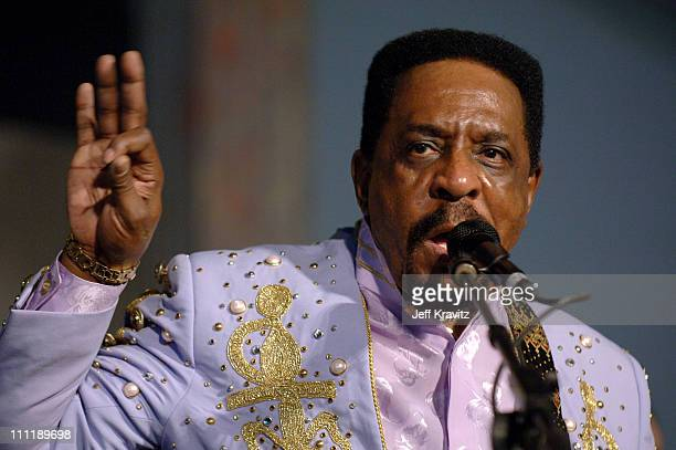 Ike Turner and the Kings of Rhythm during 2005 New Orleans Jazz and Heritage Festival Day 3 at Racecourse Fairgrounds in New Orleans Louisiana United...