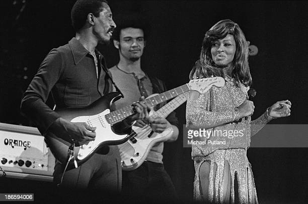Ike Turner and Tina Turner performing on stage London 27th November 1973