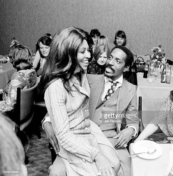 Ike Turner and Tina Turner posed together at a party in Copenhagen Denmark in November 1972