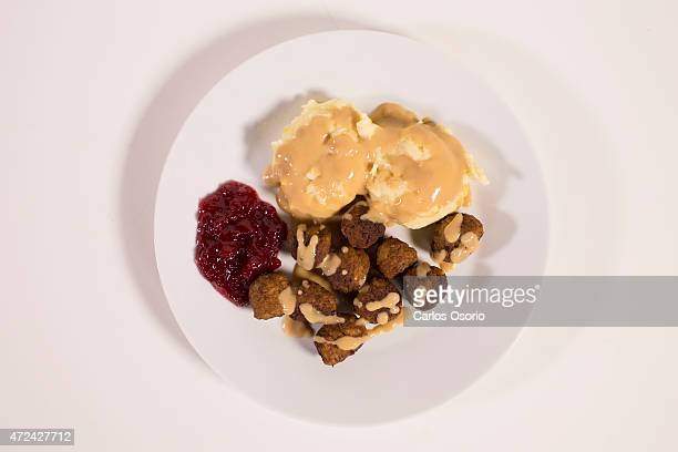 TORONTO ON MAY 5 Ikea meatballs mashed potatoes and lingonberry sauce for the dish May 5 2015