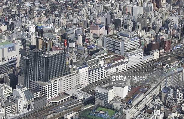 Ikebukuro Station Area, Aerial View, Pan Focus