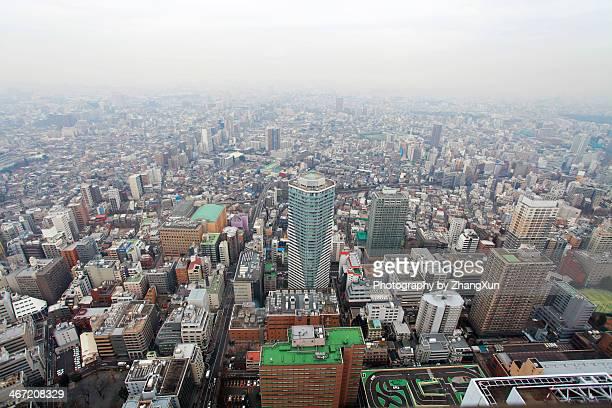 Ikebukuro Tokyo skyline from observatory