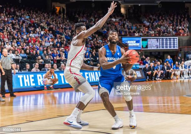 Ikenna Smart of the Buffalo Bulls steps in the paint to set up a shot during the NCAA Division I Men's Championship First Round game between the...