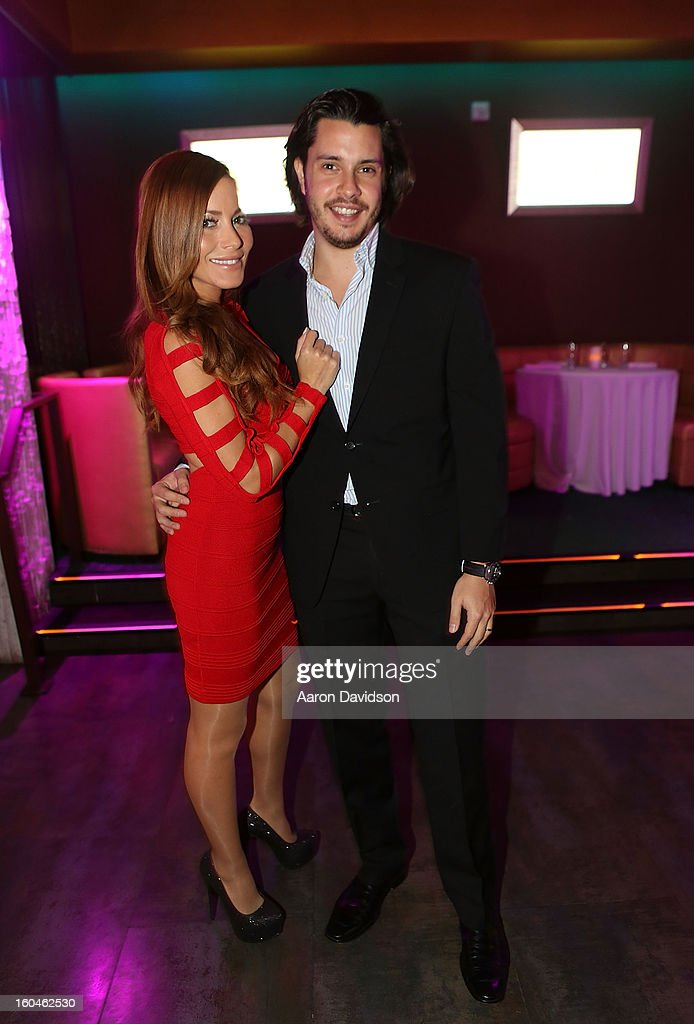 Iker Calderon and Adriana Fonseca attends The Florida Media Market 2013 Event at Room Service on January 31, 2013 in Miami Beach, Florida.