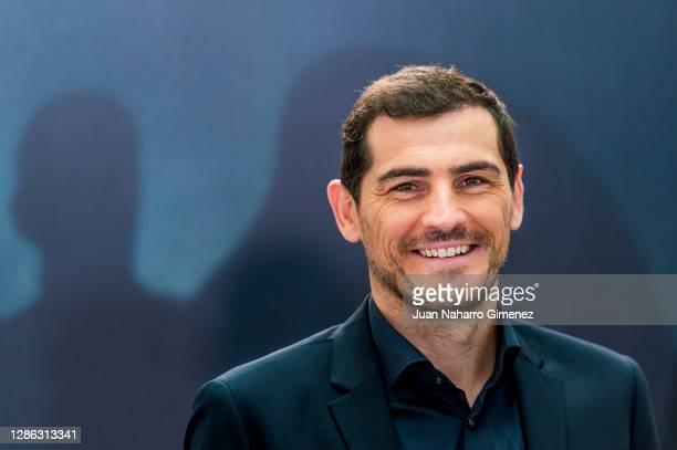 Iker Casillas attends 'Colgar Las Alas' photocall at Movistar Studios on November 18, 2020 in Madrid, Spain.