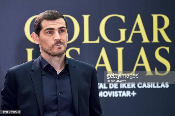 Iker Casillas attends 'Colgar Las Alas' photocall at the Movistar Studios on November 18, 2020 in Madrid, Spain.