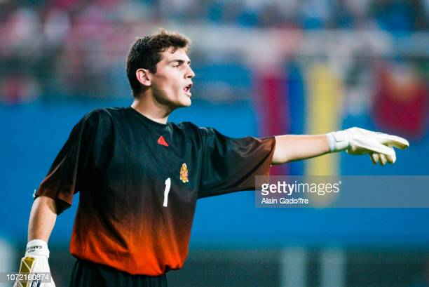 Iker CASILLAS during the 2002 FIFA World Cup match between South Africa and Spain on June 12, 2002 in Daejeon World Cup Stadium, South Korea.