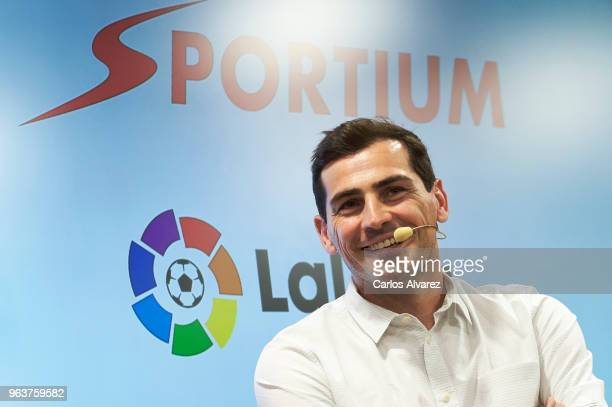 Iker Casillas is presented as Sportium Ambassador for FIFA World Cup 2018 on May 30 2018 in Madrid Spain