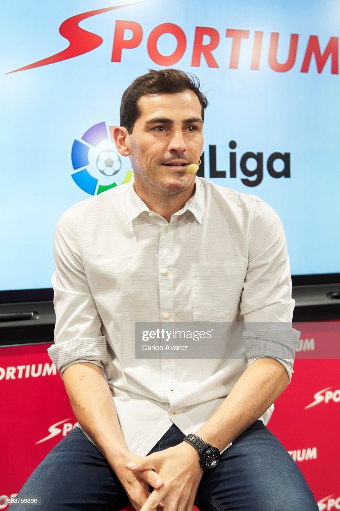 Iker Casillas is presented as Sportium Ambassador for FIFA World Cup 2018 on May 30, 2018 in Madrid, Spain.