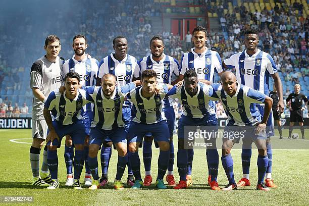 Iker Casillas of FC Porto Andre Andre of FC Porto Chidozie of FC Porto Reyes of FC Porto Miguel Layun of FC Porto Ruben Neves of FC Porto Varela of...