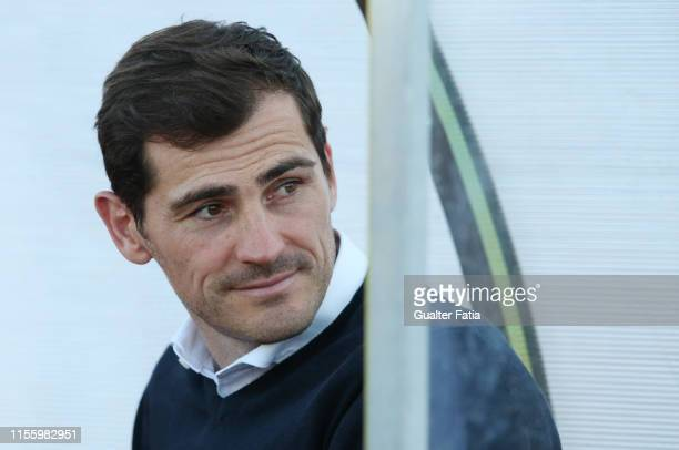Iker Casillas of FC Porto before the start of the Pre-Season Friendly match between FC Porto and Fulham FC at Estadio Municipal de Albufeira on July...