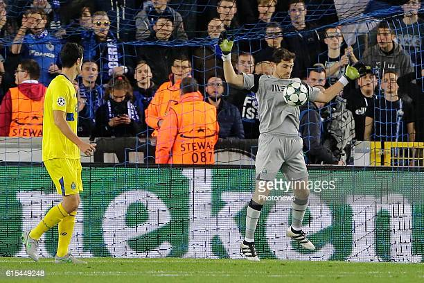 Iker Casillas of FC Porto pictured during the UEFA Champions League Group G stage match between Club Brugge and FC Porto at Jan Breydel stadium on...