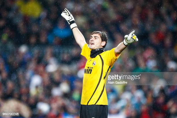 Iker Casillas of Real Madrid during the Liga match between Barcelona and Real Madrid at Camp Nou Barcelona Spain on December 13th 2008