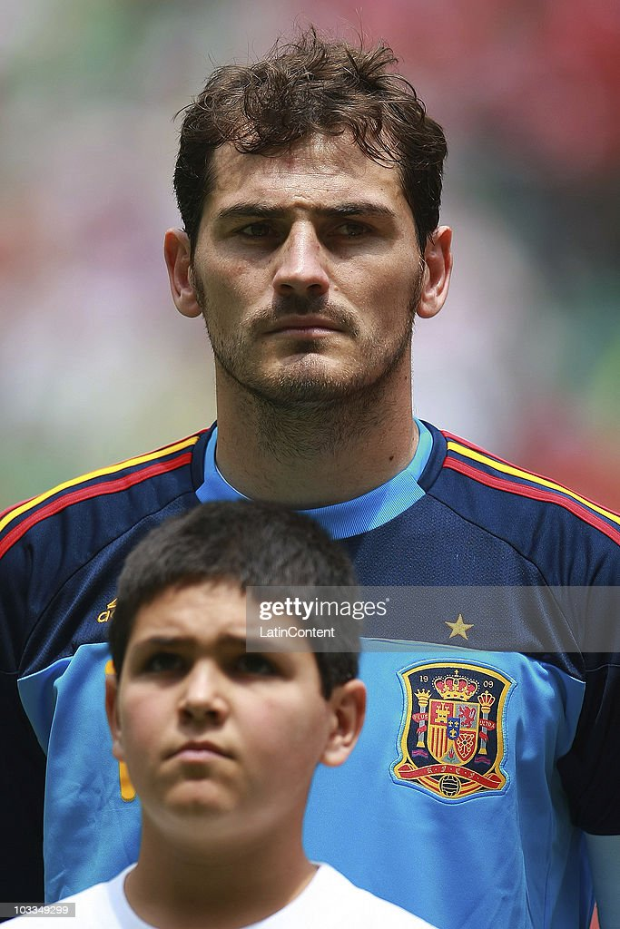 Iker Casillas of Spain during an International Friendly Match against Mexico at Azteca stadium on August 11, 2010 in Mexico City.