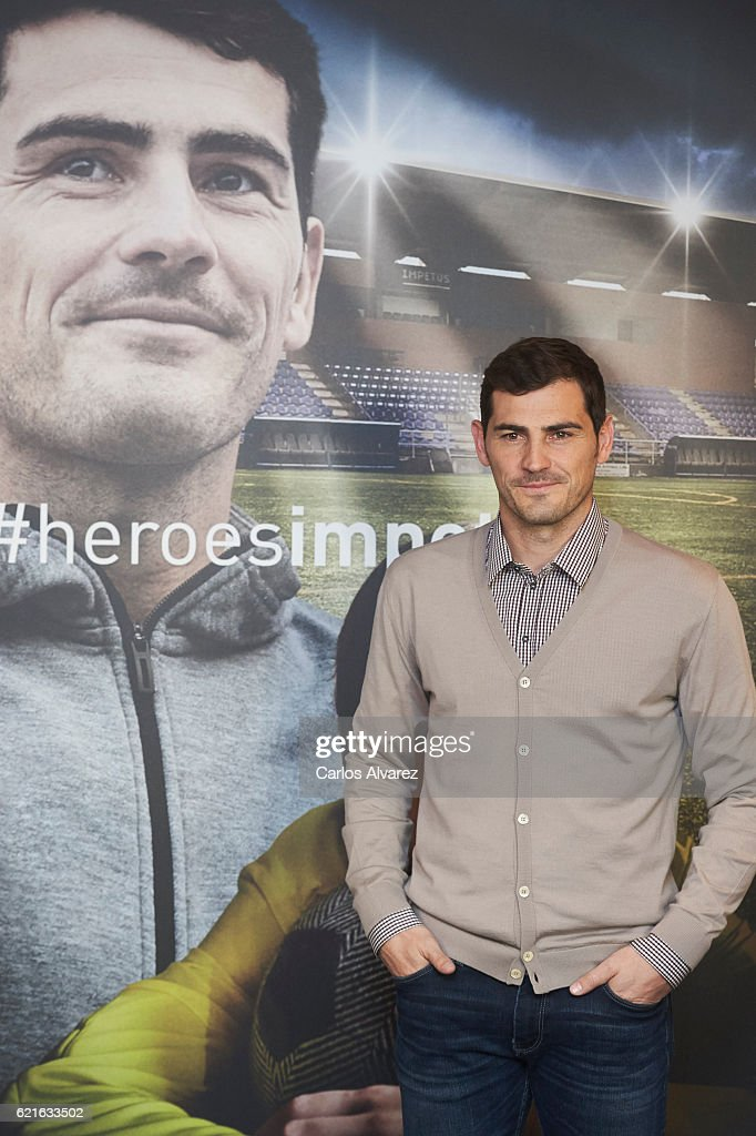 Iker Casillas presents his Short Film 'Heroes Terrenales' at Corte Ingles Castellana store on November 7, 2016 in Madrid, Spain.