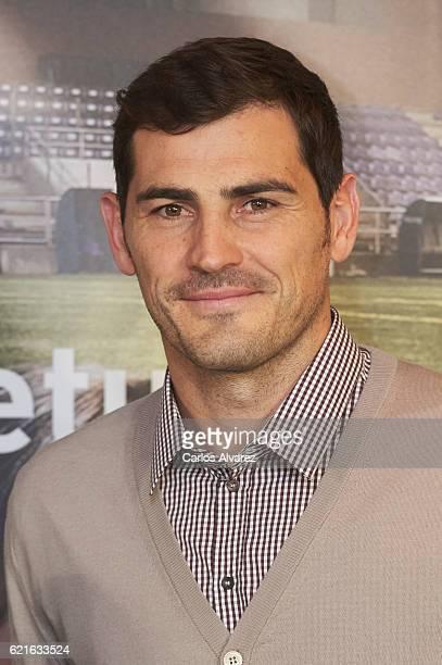 Iker Casillas presents his Short Film 'Heroes Terrenales' at Corte Ingles Castellana store on November 7 2016 in Madrid Spain