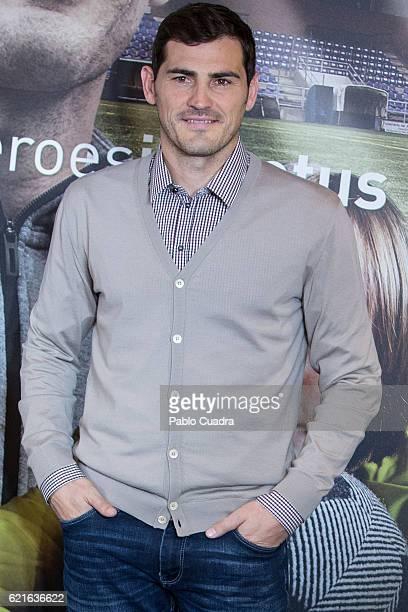 Iker Casillas presents his short film 'Heroes Terrenales' at 'El Corte Ingles' Store on November 7 2016 in Madrid Spain