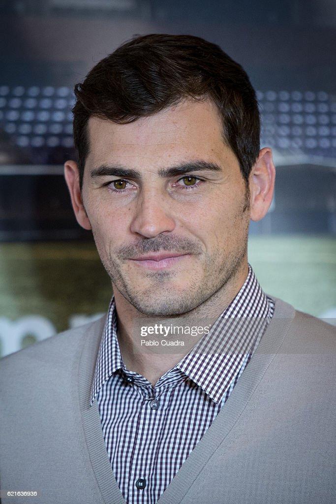 Iker Casillas presents his short film 'Heroes Terrenales' at 'El Corte Ingles' Store on November 7, 2016 in Madrid, Spain.