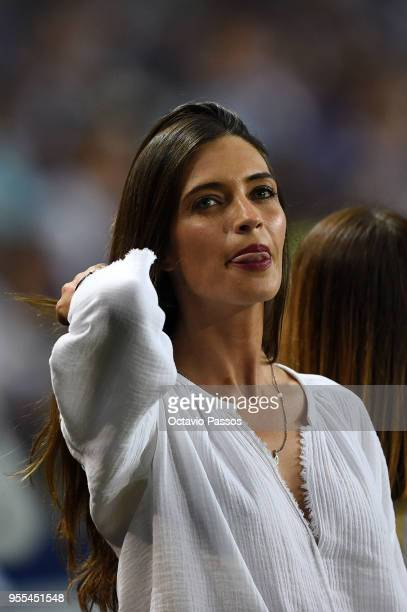 Iker Casillas wife Sara Carbonero during the celebrations of winning the Portuguese Season title after the Primeira Liga match between FC Porto and...