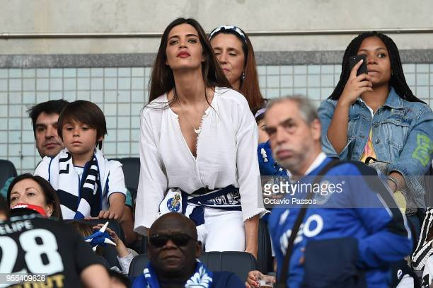 Iker Casillas' wife Sara Carbonero during the Primeira Liga match between FC Porto and Feirense at Estadio do Dragao on May 6 2018 in Porto Portugal