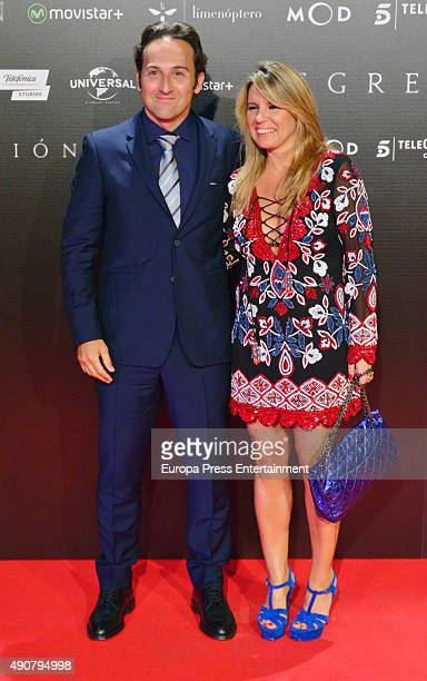 Iker Jimenez and Carmen Porter attend 'Regression' premiere on September 30 2015 in Madrid Spain