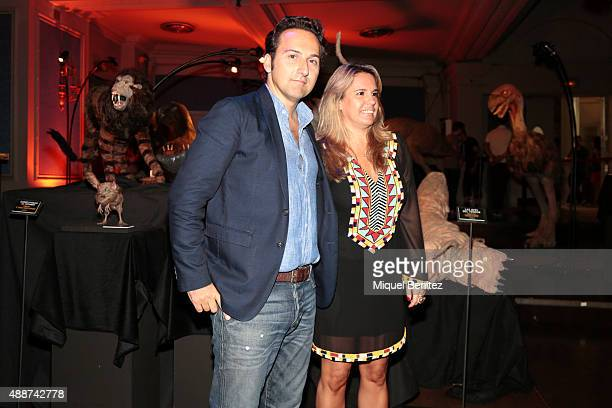 Iker Jimenez and Carmen Porter attend the Cuarto Milenio The Exhibiton at Coliseum theater in Barcelona on September 17 2015 in Barcelona Spain