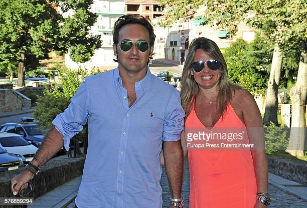 Iker Jimenez and Carmen Porter attend the prewedding party of Alvaro Rojo and Ana Villarubia Alvaro Rojo is the son of the journalists Ana Rosa...