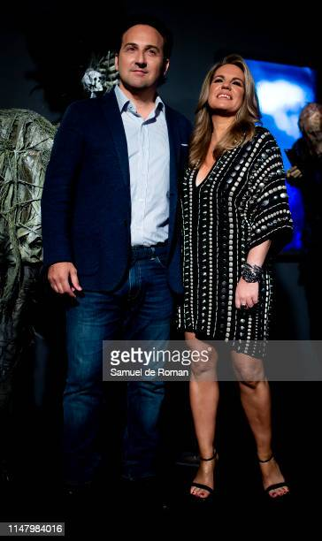 Iker Jimenez and Carmen Porter attends'Cuarto Milenio una historia de miedo' photocall at Fandome on May 09 2019 in Madrid Spain