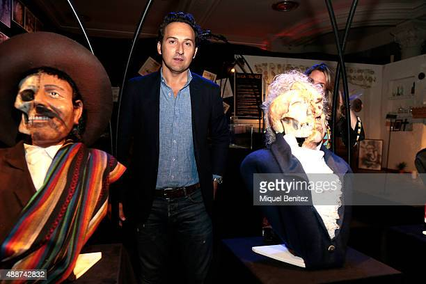 Iker Jimenez attends the Cuarto Milenio The Exhibiton at Coliseum theater in Barcelona on September 17 2015 in Barcelona Spain