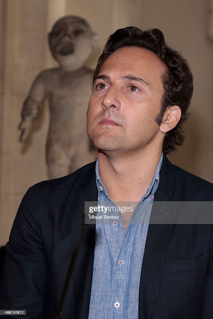 Iker Jimenez attends the Cuarto Milenio, The Exhibiton at Coliseum ...