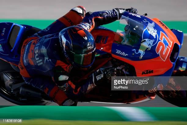 Iker Lecuona of Spain and Red Bull KTM Tech 3during the qualifying of Gran Premio Motul de la Comunitat Valenciana at Ricardo Tormo Circuit on...