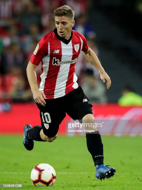 Iker Muniain of Athletic Bilbao during the La Liga Santander match between Athletic de Bilbao v Real Sociedad at the Estadio San Mames on October 5...