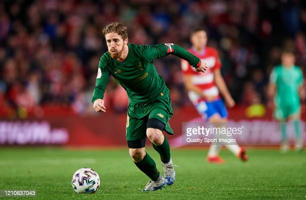 Iker Muniain of Athletic Bilbao in action during the Copa del Rey Semi Final second leg match between Granada CF and Athletic Club at Nuevo Los...