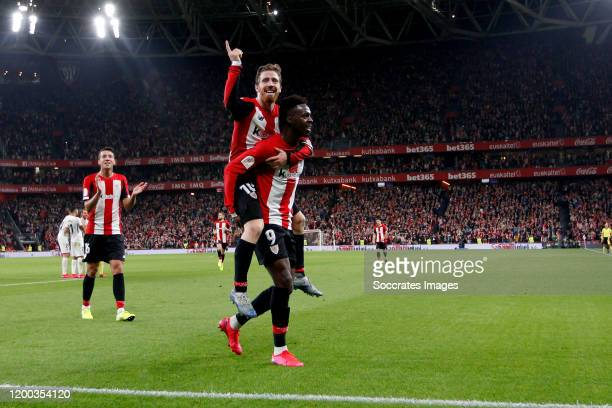 Iker Muniain of Athletic Bilbao Inaki Williams of Athletic Bilbao celebrate goal during the Spanish Copa del Rey match between Athletic de Bilbao v...