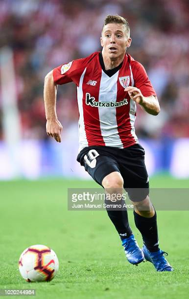 Iker Muniain of Athletic Club in action during the La Liga match between Athletic Club and CD Leganes at San Mames Stadium on August 20 2018 in...
