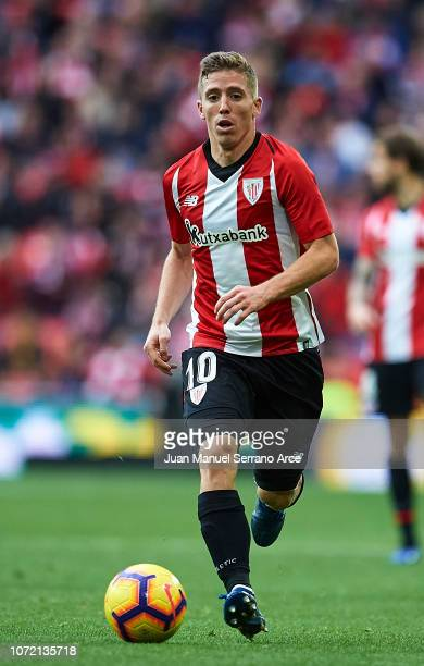 Iker Muniain of Athletic Club in action during the La Liga match between Athletic Club and Getafe CF at San Mames Stadium on November 25 2018 in...