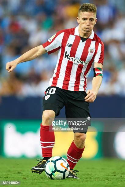 Iker Muniain of Athletic Club in action during the La Liga match between Malaga and Athletic Club at Estadio La Rosaleda on September 23 2017 in...
