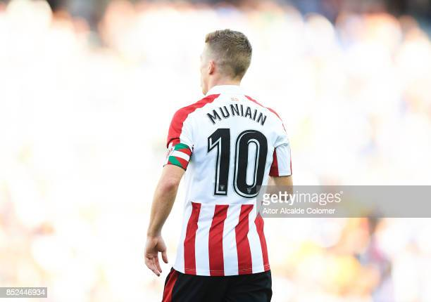 Iker Muniain of Athletic Club looks on during the La Liga match between Malaga and Athletic Club at Estadio La Rosaleda on September 23 2017 in Malaga