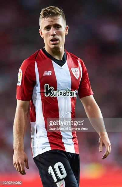Iker Muniain of Athletic Club looks on during the La Liga match between Athletic Club and CD Leganes at San Mames Stadium on August 20 2018 in Bilbao...