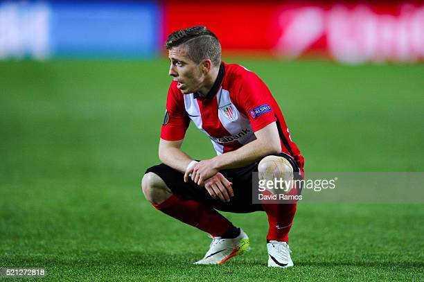 Iker Muniain of Athletic Club looks on during the UEFA Europa League quarter final second leg match between Sevilla and Athletic Bilbao at the Ramon...