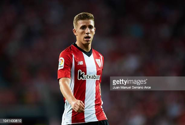 Iker Muniain of Athletic Club reacts during the La Liga match between Athletic Club Bilbao and Villarreal CF at San Mames Stadium on September 26...