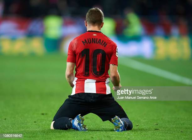 Iker Muniain of Athletic Club reacts during the La Liga match between Athletic Club and Girona FC at San Mames Stadium on December 10 2018 in Bilbao...